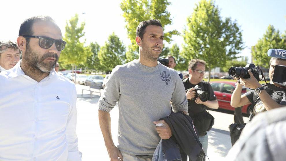Íñigo López, a la salida del Juzgado de Huesca el año pasado