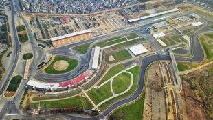 Vista aérea del circuito urbano de Hanoi.