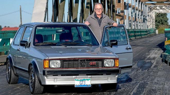 Derek Spratt y el GTI modificado de 1983.