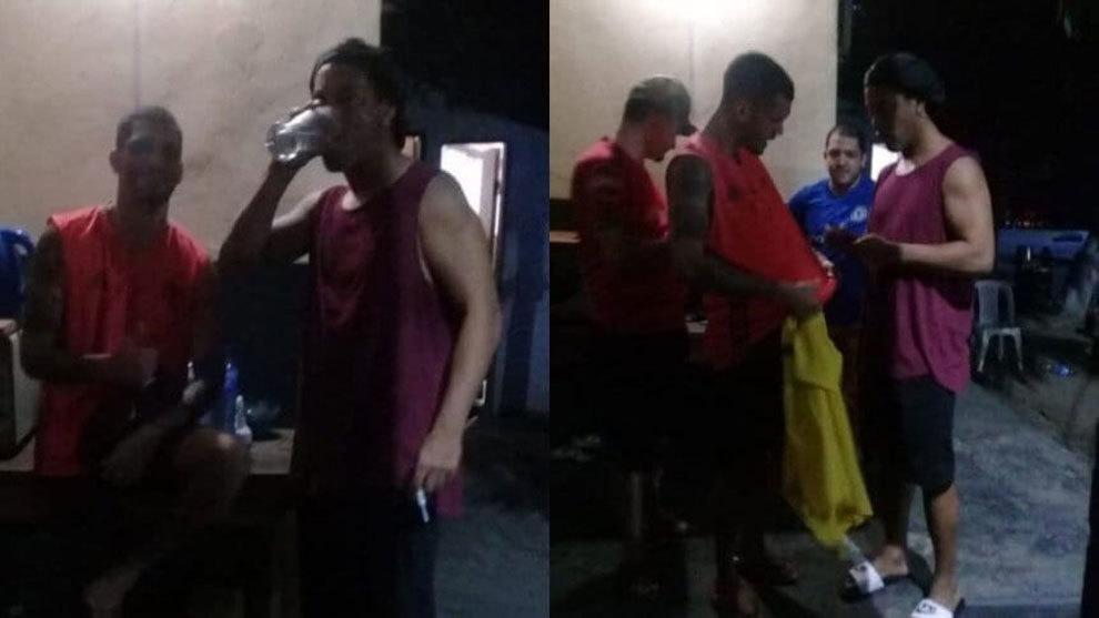 Ronaldinho junto a otros presos en el Cuadrilátero de la Agrupación...