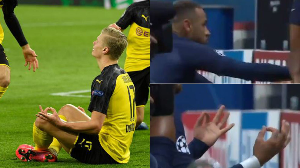 Haaland y Neymar, celebrando sus goles en la eliminatoria