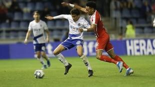 Milla, durante un partido con el Tenerife
