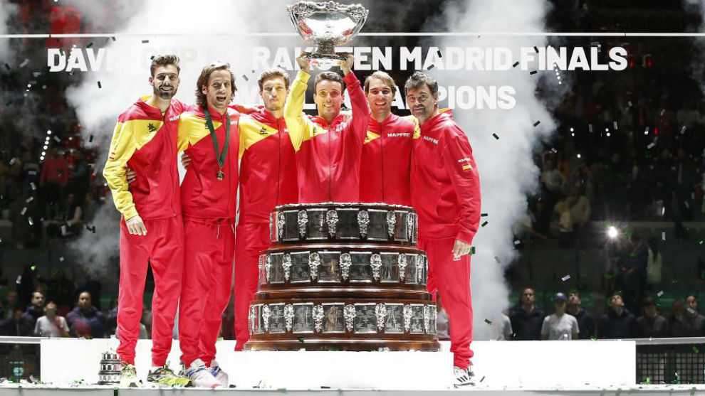 El equipo español que ganó la Copa Davis en la Caja Mágica