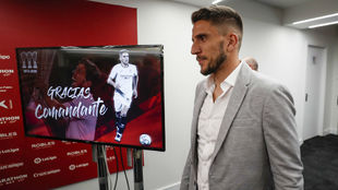 Daniel Carriço, en su despedida del Sevilla.