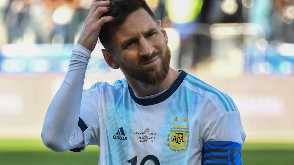 Messi, capitán de Argentina.