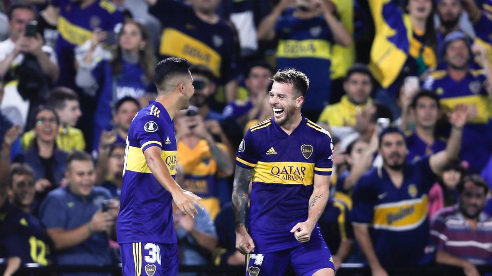 Partido de Boca en Copa Libertadores.