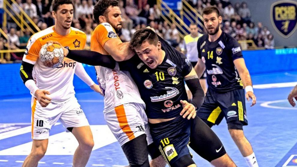 El jugador portugués, durante un partido en su etapa en el...
