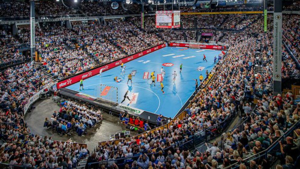 Vista de un partido de la Final Four de la Copa alemana /