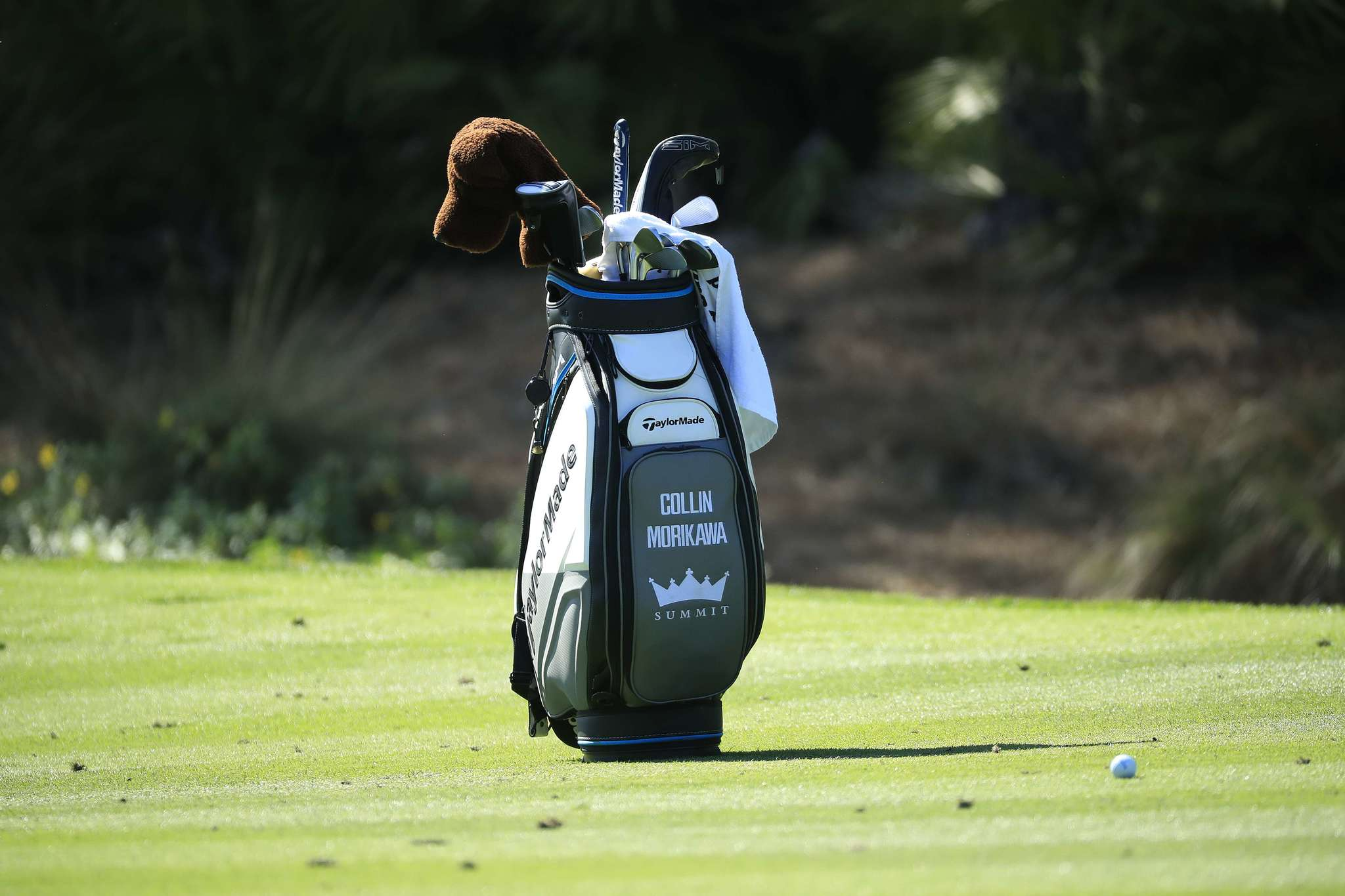 Bolsa de golf de Collin Morikawa