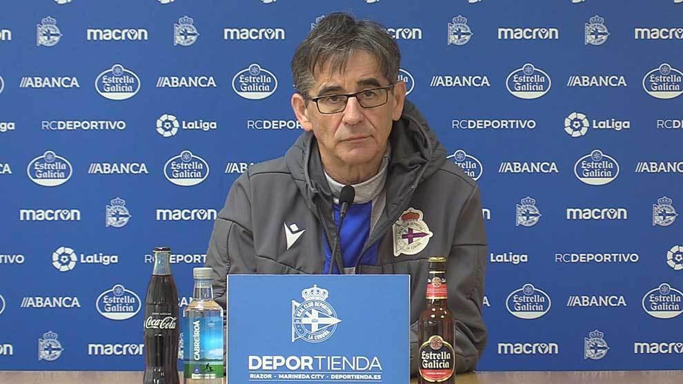 Fernando Vázquez, durante la rueda de prensa 'virtual' realizada esta...