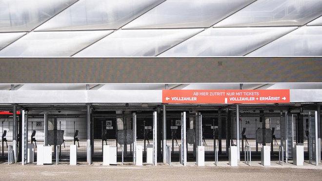 La entrada del Allianz Arena.