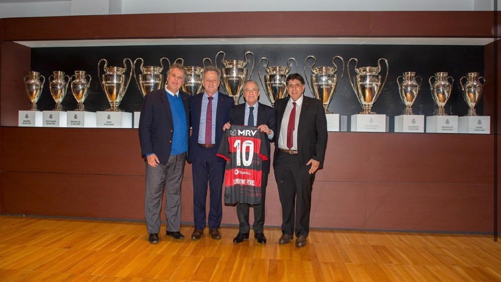 Mauricio Gomes de Mattos, en su visita al Bernabéu