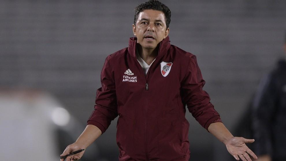 Marcelo Gallardo, durante un partido de River Plate