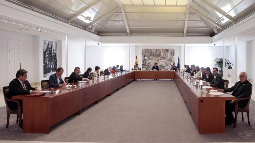 Imagen del Consejo de Ministros Extraorinario.