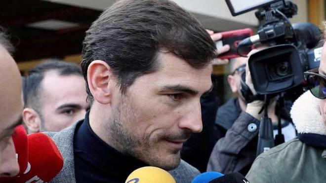 Casillas, en una comparecencia ante los medios.