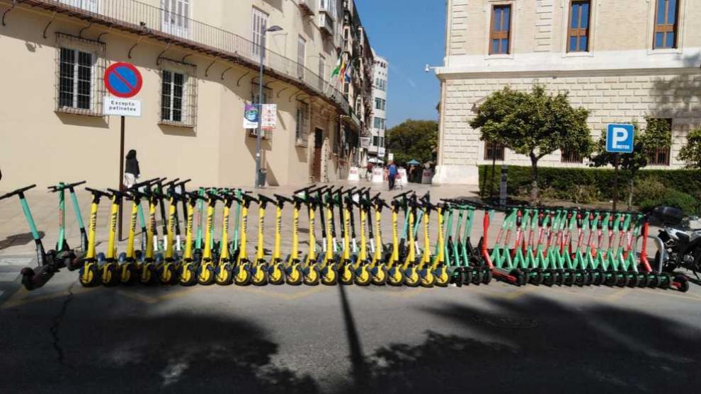 Los patinetes amarillos de Wind son unos de los que prepara eCity...