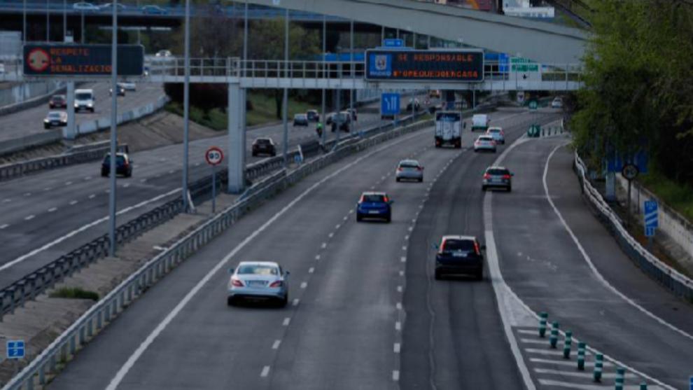 Situación de la M-30 madrileña el primer lunes laborable del estado...