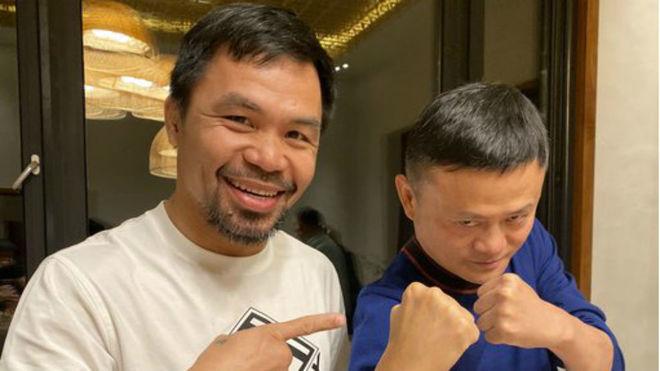 Pacquiao y Jack Ma, fundador de Alibaba.