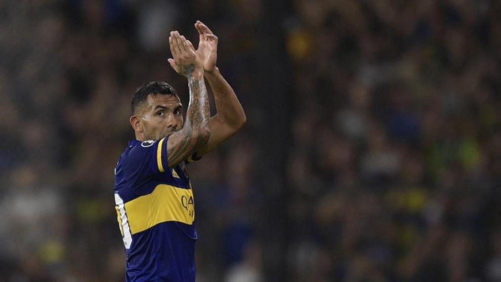 Tévez, con Boca Juniors