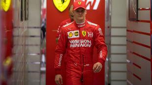 Mick Schumacher, durante su test con Ferrari en abril de 2019.