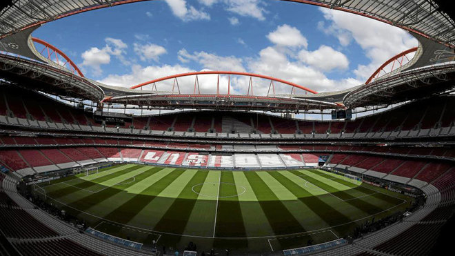 Panorámica del estadio Da Luz.
