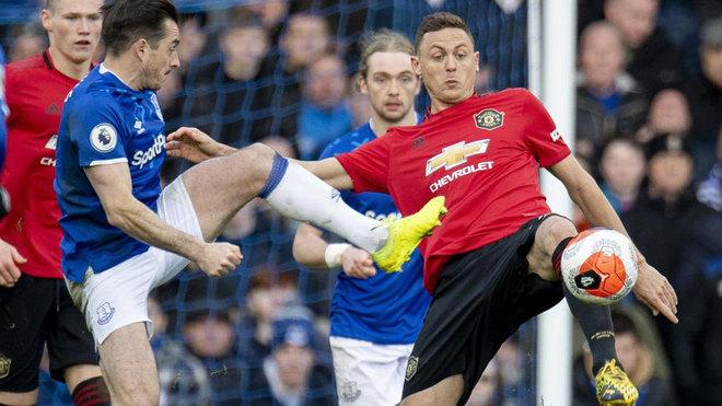 Matic, con el United ante el Everton.