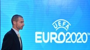 Aleksander Ceferin, en una presentación de la Euro 2020.