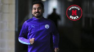 Ilkay Gündogan, con el Manchester City.