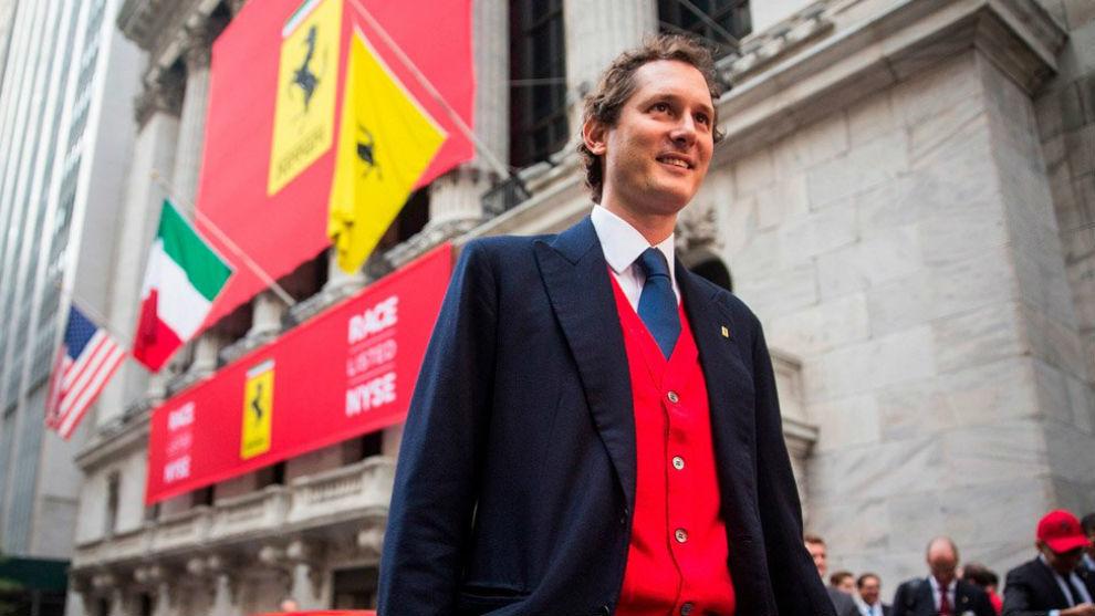 John Elkann, presidente de Ferrari y del Grupo Fiat, nieto de Gianni...