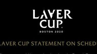 El comunicado de la Laver Cup
