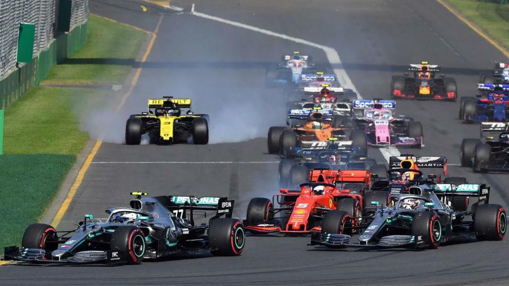 Salida de una carrera de F1 en 2019.