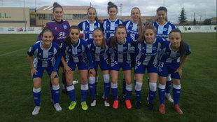 Un once del Deportivo Alavés femenino.