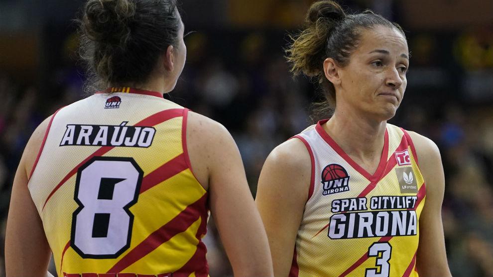 Laia Palau y María Araujo, jugadoras del Spar Citylift Girona,...