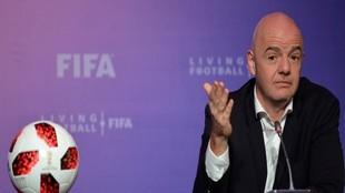 Gianni Infantino en una pasada reunión de la FIFA.