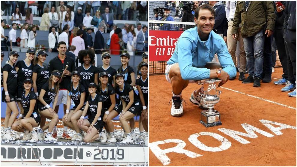 Djokovic y Nadal no podrán defender los títulos de Madrid y Roma