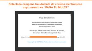 Imagen con la que el Incibe alerta de la campaña maliciosa