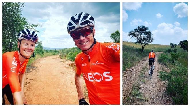 Chris Froome y Dylan van Baarle entrenan en Sudáfrica.