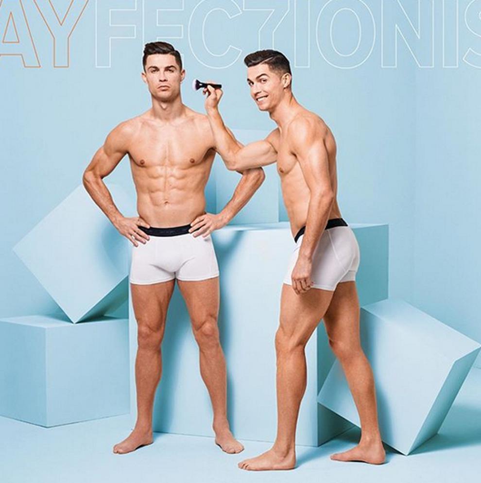 Yamamay compartió unas imágenes de Cristiano Ronaldo en calzoncillos...