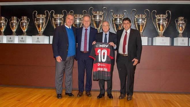 Maurício Gomes de Mattos, en su visita a Florentino Pérez.