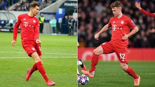 Goretzka y Kimmich, con el Bayern.