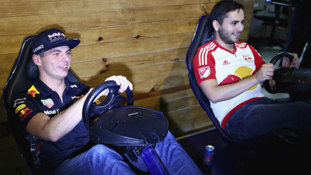 Verstappen, un habitual de los videojuegos de F1.