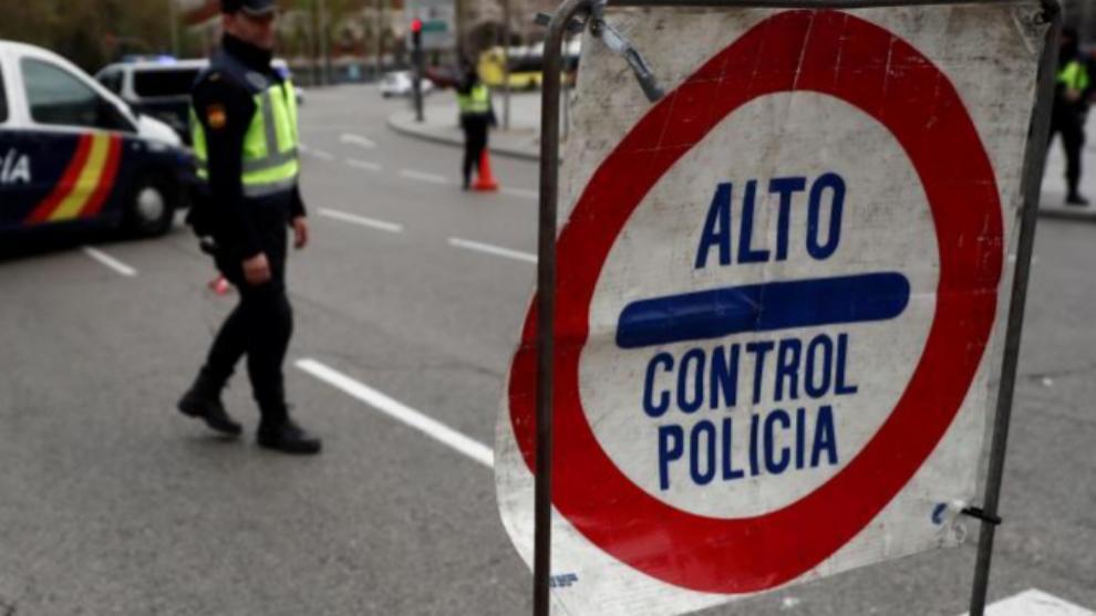 Un control de la Policía Nacional estos días