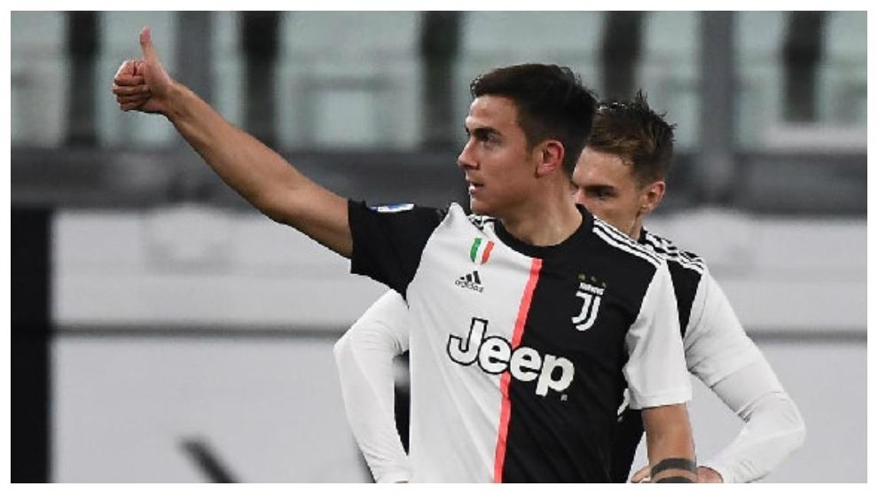 Paulo Dybala celebra un gol contra el Inter.