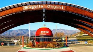 La entrada al Circuito de Mugello.