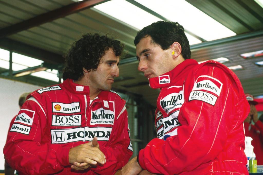 Prost y Senna, en el GP de Bélgica de 1988.