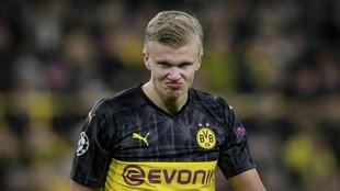 Erling Haaland, en un partido con el Borussia Dortmund