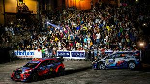 Ceremonia de salida del Rally de México, el jueves de la semana...