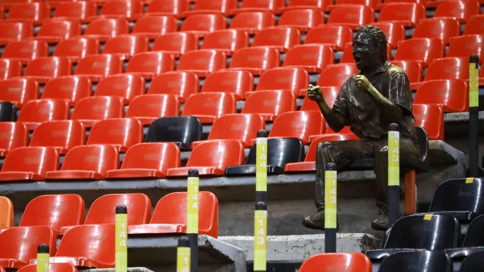 El Estadio Azteca lució vacío en el último juego de la Liga MX