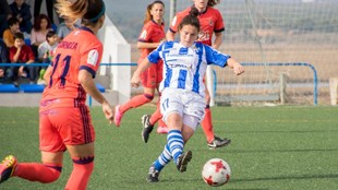 Sandra Bernal, durante un partido esta temporada frente al Levante.