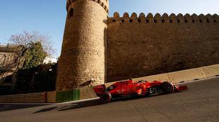 Leclerc, en el pasado Gran Premio de Azerbaiyán